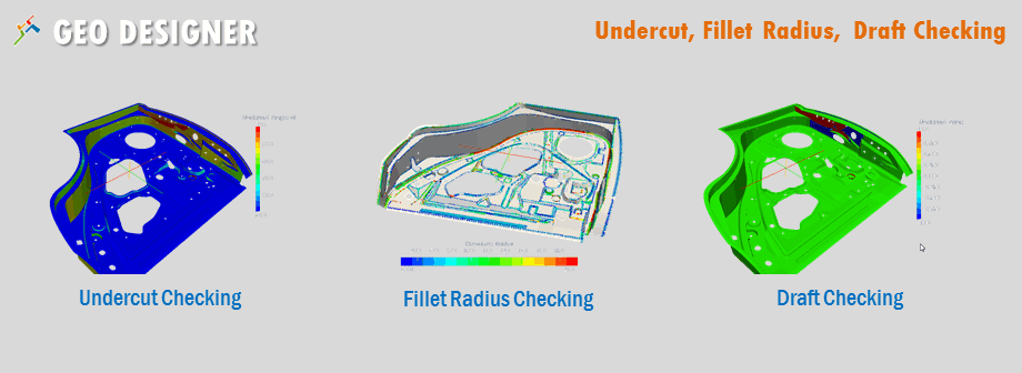 Geo-designer can find the critical radius quickly, also highlight the critical undercut region